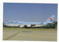 Korean Air Boeing 747-4B5 Aviation Postcard, A824