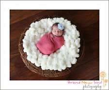 Cute Baby photography photo props Faux wool Basket Stuffer blanket rug