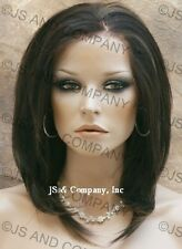 French Lace Front Wig HEAT SAFE Dark Brown and Strawberry mix APA7 4/30
