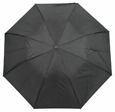 Drizzles Mens Automatic Umbrella with Crook Handle Black