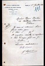 """GISORS (27) EPICERIE / PRODUITS ALIMENTAIRES """"Louis LEGRAND"""" en 1931"""