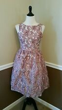 $139 Modcloth Glam Make Believe Dress M White~Pink Champagne & Strawberry Retro
