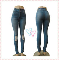 Sexy Stretch Power Skinny High Waist Slim Pencil Tights Stretch Jeans Pants