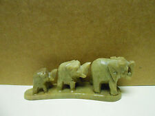 Stone Carved Figurine Elephants 3 made in India