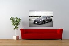 PHOTO TRANSPORT NISSAN GTR R35 SUPERCAR FAST  BLACK GIANT ART POSTER NOR1034