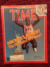SUMMER OLYMPICS CARL LEWIS TIME MAGAZINE JULY 30 1984 VERY GOOD