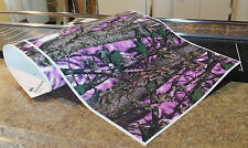 "GIRL CAMO DECAL MADE FROM 3M WRAP VINYL 48""x15"" MUDDY PRINT CAMOUFLAGE HOT PINK"