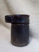 Pot à olives grès Puisaye  ART CERAM Grand Feu  couvercle avec anneau.