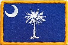 SOUTH CAROLINA STATE Flag Patch With VELCRO® Brand Fastener Military Emblem