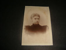 Antique Cabinet Photograph,Photo of Young Lady in High Neck Black Dress,  #080