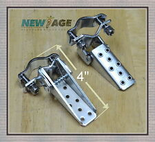 Pair Steel Foldable Fork Step Chrome -  BMX MTB Road Bike Bicycle Foot Step Peg