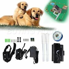 In-Ground Electric Dog Pet Fence Containment System 2 Shock Collars for 2 Dogs