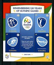 Ghana 2016 MNH Olympic Games 120 Yrs Rio Summer Olympics 4v M/S II Golf Stamps