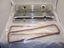 Corvette LT-1/L-82 Chrome Finned Valve Covers. Pair with Gaskets
