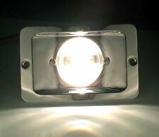 MARINE BOAT STERN LIGHT RECTANGULAR STAINLESS STEEL SPASHPROOF FLUSH MOUNT