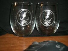 Set Of 2 Grateful Dead Stemless Wine Glasses