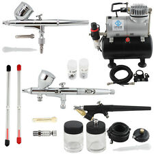 OPHIR 3-Airbrush Kits & 110V Air Tank Compressor for Temporary Tattoo Body Paint