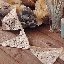 Wedding Party Decoration Lace Banner Flag Romantic Vintage Shabby Garlands