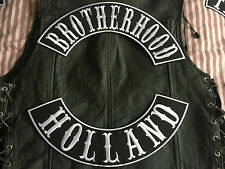 Brotherhood Holland Patch Banner XL Set je 39x8,7 cm Biker Kutte MC ohne Kutte