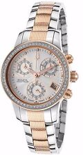 Bulova Accutron Women's 65R149 White Diamonds Rose Gold and Silver Tone Watch