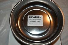 """Magnetic Parts Bolts Tray Round Dish Tools Stainless Steel Holder Organizer 5"""""""