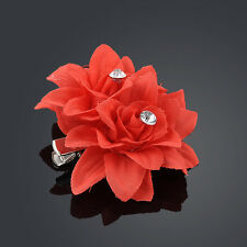 New Fashion Woman Lady Peony Flower Hair Clip Hairpin Brooch Wedding Accessories