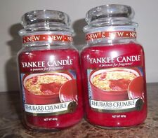 Lot of 2  Yankee Candle RHUBARB CRUMBLE 22 oz. European~NOT YET Released