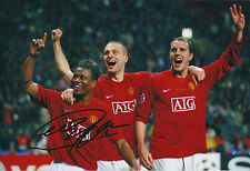 Patrice EVRA Signed Autograph 12x8 Photo AFTAL COA Man United Captain FRANCE
