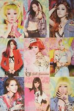 """GIRLS GENERATION """"COLORFUL HAIR COLLAGE"""" POSTER - K-Pop Music"""