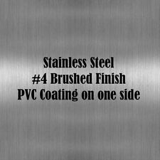 """8"""" x 12"""" Stainless Steel Sheet Metal .075"""" Thick (14 gauge) #4 Brushed Finish"""