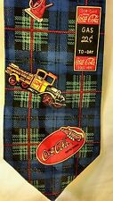 Men's Necktie Coca-Cola Vintage Gas Pumps Sign  Truck Silk Coke Tie