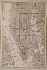 1923 Antique MANHATTAN Map NEW YORK CITY Map Gallery Wall Art  #3237