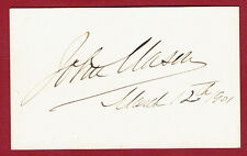 1901 ACTOR JOHN B.(JACK) MASON SIGNED CARD - AMERICAN STAGE & THEATRE ACTOR
