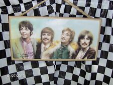 "Beatles (Color) 10""X 5"" Wood Sign"