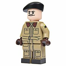 WW2 British Tanker Soldier Minifigure made using custom printed Lego parts