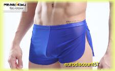 Boxer Short  Court Bleu Transparent    Homme Très Sexy T XL  Bx 982
