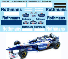 1/18  WILLIAMS RENAULT FW18 1996 DECALS TB DECAL TBD146