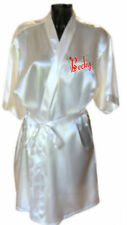 Personalised Ladies Ivory Satin Dressing Gown / Robe Ideal Gift for HER - Brides