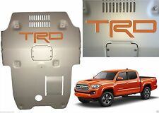 Inferno Orange Premium Vinyl TRD Skid Plate Inserts For 2016-2017 Toyota Tacoma