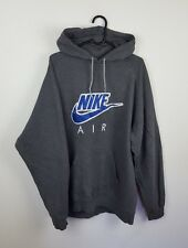 VTG RETRO MENS GREY NIKE AIR ATHLETIC SPORTS OVERHEAD SWEATSHIRT HOODIE UK XL