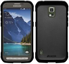 Amzer Exclusive Pudding Matte TPU Fitted Case Cover For GALAXY S5 Active - Black