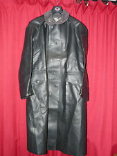 BLACK SBR RUBBER RAINCOAT MANS MACKINTOSH BDSM 48 CHEST