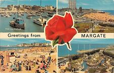 B103576 greetings from margate ship bateaux clock tower    uk