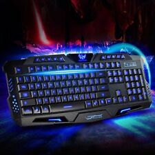 TASTIERA GAMING LED MULTIMEDIALE KEYBOARD USB RETROILLUMINATA LAPTOP PC COMPUTER