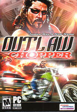 OUTLAW CHOPPER Harley Motorcycle Racing PC Game NEW BOX