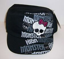 MONSTER HIGH Gothic Girls Embroidered LOGO BLACK HAT CAP NEW!!