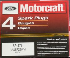 SET OF 4 MOTORCRAFT PLATINUM SPARK PLUGS SP479 AGSF22WM FAST & FREE SHIPPING!!