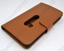 1pcs Brown Leather Cover Flip Case HOLDER WALLET For Nokia Lumia 920