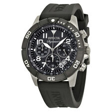 Invicta Signature II Chronograph Black Rubber Mens Watch 7348