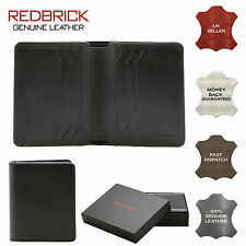 REDBRICK LONDON MENS LUXURY GENUINE LEATHER BLACK WALLET SLIM CREDIT CARD HOLDER